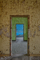 Prison 11. (BHClicks) Tags: blue green colors yellow paint decay hdr urbex