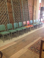 Royal Office Chairs (Smash Inventory) Tags: men metal century vintage chair 60s fifties antique turquoise retro 1950s era 50s 1960s mad seating mid sixties midcentury steelcase roal