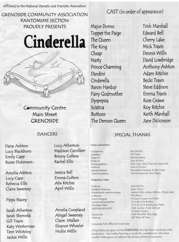 2007 Cinderella 00 Programme
