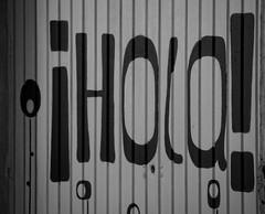 hello - hola - hallo (puesyomismo) Tags: hello door puerta persiana hi hallo saludo hola salut garaje