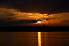 sunset on the lake (Hannynanny1) Tags: light sunset lake nature germany deutschland see licht nikon sonnenuntergang erfurt natur thueringen sonne d3100