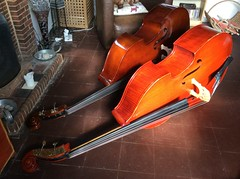 01 Mar 15 Double basses. (@daz_reynolds) Tags: home kent lounge instrument contrabass doublebass hernebay