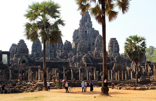 The biggest Buddhist structure Bayon temple (Chetra Chap, 2013).
