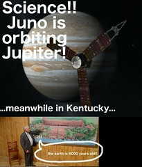 Science!! Juno Is Orbiting Jupiter! (ipressthis) Tags: sun moon plane truth flat god earth kentucky space science yang dome reality bible jupiter curve yinyang yin universe juno 6000 hoax curvature flatearth nocurve