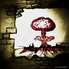 #Atomicbomb #nuclear #explosion #doodle #doodling #drawing #inkpen #bleak #destruction (wheezinggrampus1) Tags: drawing destruction explosion nuclear doodle bleak inkpen doodling atomicbomb