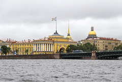 St Petersburg (Kev Gregory (General)) Tags: kev gregory canon 7d baltic cruise royal caribbean navigator of the seas europe waterways river neva saint petersburg russia grand ornate building structure admiralty imperial russian navy st isaacs cathedral orthodox museum goldplated dome