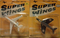 ZYLMEX DYNA-FLITES A120 VC10 and A132 HUNTER (NyamalaTone) Tags: vintage airplane toy collectible flugzeug jouet avion juguete