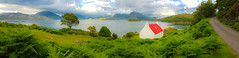 Cottage looking out onto Loch Shieldaig (Just hit 5 million views) Tags: lochshieldaig cottage redroof roof