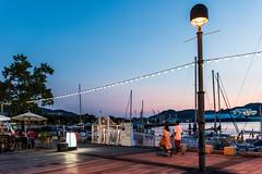Harbor 3 (kmmanaka) Tags: japan nagasaki evening harbor tram dejima meganebashi scooter