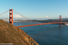 141101 Golden Gate Bridge-06.jpg (Bruce Batten) Tags: california plants usa buildings boats us unitedstates aircraft bridges vehicles goldengate trips sanfranciscobay subjects automobiles locations occasions millvalley urbanscenery cloudssky atmosphericphenomena transportationinfrastructure oceansbeaches rocksgeologicalformations