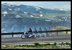 July 18 2014 - Riding faster than the speed of light on the Beartooth Pass Highway (lazy_photog) Tags: mountains photoshop john photography highway edited rally pass run harley poker lazy processing motorcycle wyoming davidson elliott photog beartooth worland 071814beartoothrallycucascamera