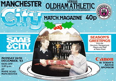 Manchester City vs Oldham Athletic - 1983 - Cover Page (The Sky Strikers) Tags: road xmas city canon magazine manchester football athletic maine second match oldham division saab league the 40p