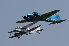 De Havilland DH.89A Dominie and Avro Anson Nineteen - 2 (NickJ 1972) Tags: fly dragon aviation navy collection airshow anson shuttleworth nineteen avro dehavilland rapide 2016 dominie oldwarden dh89 gahkx gagsh jemmameeson