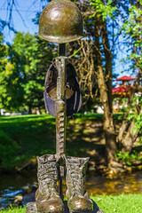 _DSC4104 (Simply Angle) Tags: chewelahwa chewelah outdoors outside nature park highway 395 jenne memorial vet veterans veteran statue trees grass green sel50f18f fe50mmf18 sony sonyphotographing sonyphotography a7ii sonya7ii ilce7m2 hdr