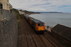 'Herd of Wildebeest' | GBRF 73128/107/962/963 | Seawall (Western Railway Photography) Tags: gbrf great british rail freight herd wildebeest 73128 73107 73962 73963 dawlish south devon seawall class 73 731 739