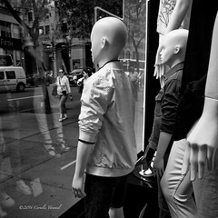 Never judge a Mannequin until you've stood in his window (CVerwaal) Tags: blackandwhite usa ny newyork mannequins fifthavenue sonyrx100iii