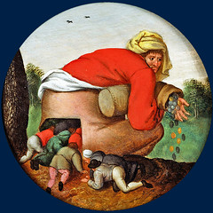 The flatterers on their way to the rich man's money (petrus.agricola) Tags: pieter bruegel younger proverbs flemish netherlandish painting tondo
