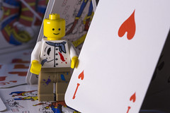 House of cards (dierickx.d) Tags: macro cards toys lego ace playingcards aceofhearts macromondays macromonday