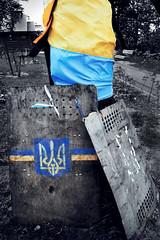 Relics of a revolution...Kyiv (Sean Hartwell Photography) Tags: freedom shrine flag pride ukraine national revolution kiev kyiv uprising shields nationalism 2014 uprisin viktoryanukovych