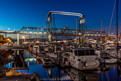 Murray-Morgan-Bridge-A-Blue-Hour-7-16-16 (Rob Green - SmokingPit.com) Tags: street city bridge blue 2 green art water colors skyline architecture night speed marina docks canon lens point landscape photography lights harbor pier town washington artwork thea downtown slow waterfront view sundown angle pacific northwest outdoor dusk mark vibrant tripod wide down center rob landing ii shore hour sound 7d shutter wa inlet tacoma 11th morgan streaks foss murray puget waterway saltwater theas