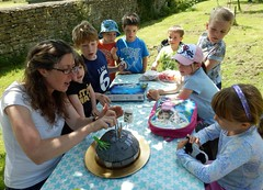 For Jody, making a Death Star is a piece of cake (Shamus O'Reilly) Tags: birthday cake children jack starwars oxfordshire deathstar witney coggesmanorfarm