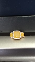 Fancy Yellow Diamond (AllThatGems) Tags: engagement jewelry weddingring eternity diamondring yellowdiamond onlinejewelry fancycolor jewelrytrends colorstones oldcutdiamond