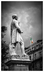 Sir John Gray  {monument} (D.k.o.w) Tags: dublin ireland statue monument johngray sirjohngray oconnellstreet tricolour irish selectivecolouring colourpopped canon 500d dublincitycentre dublinstreet