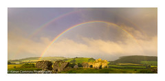 Double Rainbow at Dunamase (Kieran Commins) Tags: rainbow weather clouds panorama