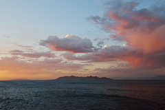 There's Times when the Great Salt Lake is Exactly That (JasonCameron) Tags: great salt lake utah antelope island water dusk sunset clouds red orange storm