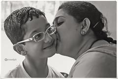 .. (Ramalakshmi Rajan) Tags: portrait portraits blackandwhite blackwhite mynephew people kids children motherandchild motherhood mother woman indians nikon nikond5000 nikkor18140mm