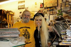 With Jerry from Jerry's Records! (I*Am*The*Great*Moon*Goddess*) Tags: jerrys records black vinyl albums stacks long blonde hair
