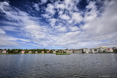 lago en Reykjavik (Mauro Esains) Tags: islandia reykjavik agua ciudad cielo lago paseo casas parque patos reflejosarboles aire libre gran angular nikon sigma