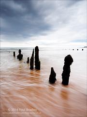 Sandsend (ScudMonkey) Tags: sandsend c2016paulbradley northyorkshire coast groyne post wood defence beach colour tide water wash sand slowshutter canon 6d ef1740mmf4l