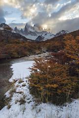 Fresh snow in a autumn afternoon (Fabio Rage) Tags: patagonia los glaciares national park el chaltn argentina snow autumn fitz roy fall outono