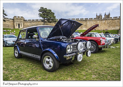 Mini 1.3 GT (Paul Simpson Photography) Tags: mini13gt blue british lincoln lincolncastle lincolnclassiccarshow lincolnshire sonya77 may2016 mini car cars classic imageof imagesof paulsimpsonphotography photoof photosof grass transport wheels tyres motorshow
