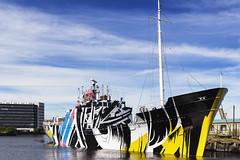 Dazzle Ship (MatMat Brown) Tags: edinburgh leith harbour docks battleship dazzle camoflage warship old maritime