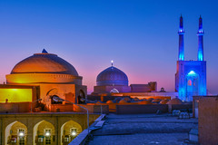 Yazd (viaggionelmondo) Tags: dusk bluehour blue sunset light night nighlights fantastic beautiful nice cool awesome stunning perfect composition longexposure colors color travel traveler traveller travelling traveling sight sightseeing visit visiting trip journey tour tourist tourism world worldwide adventure photo photography photographer image shot pic picture flickr camera reflex nikon nikkor dslr dx d7100 nikond7100 tamron kerman yazd desert city mosque masjid architecture iran persia iranian persian asia middleeast muslim allah