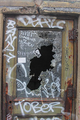 Smashed (NJphotograffer) Tags: graffiti graff pennsylvania pa philadelphia philly abandoned building urban explore rooftop broken window door deaz band tober amn i2i crew snak add manik oal soar tku
