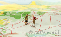 man and woman making decision (compuinfoto) Tags: map travel man woman directon communication left right business travelers closeup miniature people macro small figure luggage couple little businessman concept businesswoman figurine