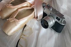 1009 of 1096 (Yr 3) - Ballet shoot on film (Hi, I'm Tim Large) Tags: ballet shoes camera film 35mm zorki glasses retro old cateye fuji fujinon fujifilm xf xe1 1855mm tutu pumps pointe