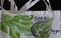 colorinspirit bag (colorinspirit) Tags: illustration handmade handpainted custom colorinspirit bag acrylicpaint figs shoppingbag fabric