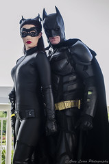 Batman and Catwoman (Greg Larro Photography) Tags: batman bob kane bill finger bruce wayne christian bale christopher nolan dc comics comic wb warner bros brothers catwoman selina kyle anne hathaway megacon megacon2014 2014 cosplay