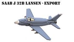 SAAB J 32B Lansen - Zlovenian Export Model (Matthew McCall) Tags: lego fighter jet aircraft military cold war sweden saab 32 lansen