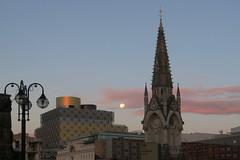 20161017_Moon over Birmingham (Damien Walmsley) Tags: supermoon moon birmingham clouds morning library