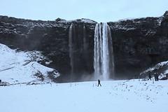 Stark and colourless (PsJeremy) Tags: waterfalls icelandic blackwhite stark travel frozen cold winter