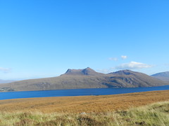Beinn Ghobhlach (2,083ft), Highlands of Scotland, Oct 2016 (allanmaciver) Tags: beinn ghobhlach west highlands scotland little loch broom blue skt water brown autumn colours breeze allanmaciver