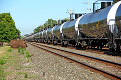 Looking New Now (craigsanders429) Tags: tankertrains tankcars olmstedfallsohio railfanninginolmstedfallsohio tracks railroadtracks norfolksouthern norfolksoutherntrains nschicagoline