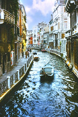 Venice (Jurek.P) Tags: venice italy city cityscape canal boat bridge water scan jurekp prakticasupertl