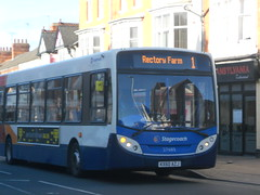 Stagecoach 27683 KX60 AZJ (Alex Swanston's Bus Photos) Tags: outdoor northampton bus vehicle road stagecoach stagecoachinnorthampton stagecoachmidlandred dennisenviro300 e300 enviro300 route 1 27683 kx60azj