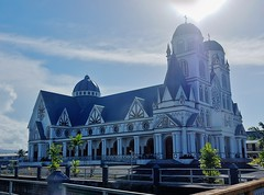 First Shot Of This Striking Building (mikecogh) Tags: apia samoa cathedral catholic striking mulivaicathedral religion culture towers domes